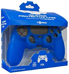 Tomee Silicone Skin Protective Case for PS4 Controller (Blue)