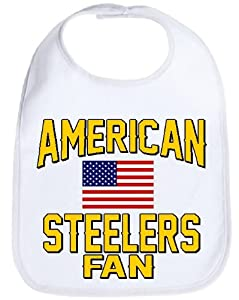 American Steelers Fan Usa Flag Football Baby Bib