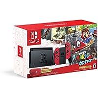 Nintendo Switch Super Mario Odyssey Edition Bundle with Red Joy-Con