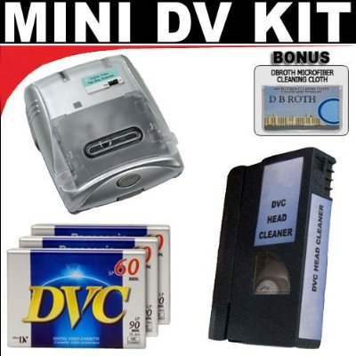 Db Roth .. Mini Dv Cassette Rewinder Mini Dv Cleaning Cassette 3 Mini Dv Video Cassettes For The Sony Hvr-hd1000u Dcr-trv900 Vx2100 Dsr-pd150 Pd170 Mi