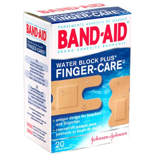 Band-Aid R Brand Water Block Plus R Finger-Care trade Bandages Assorted Box Of 20B0000AQO9G : image
