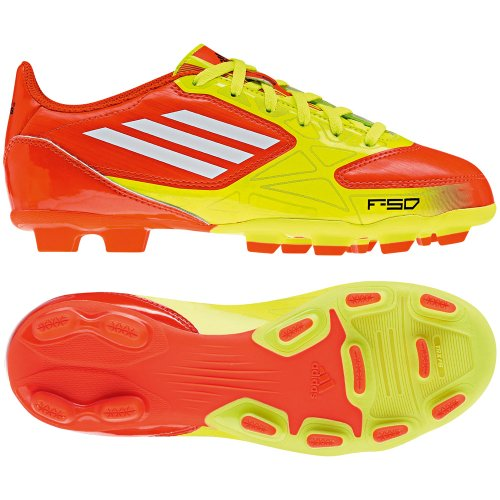 adidas Kinder Fußballschuhe F5 TRX FG J high energy/electricity/white