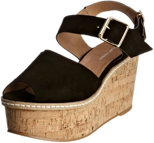 KG by Kurt Geiger Women's Penelope Suede Black Wedges 2866000209 7 UK