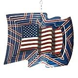 Iron Stop Designer American Flag Wind Spinner