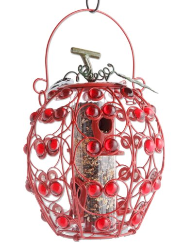 Cheap Exhart Apple Shaped Seed Feeder with 4 Ports (B002NC5TJA)