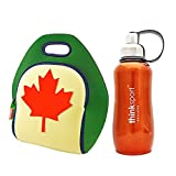 Dabbawalla Bags Lunch Bag~O Canada Lunch Bag With Orange Thinksport 12 Oz. Thermal Drink Bottle