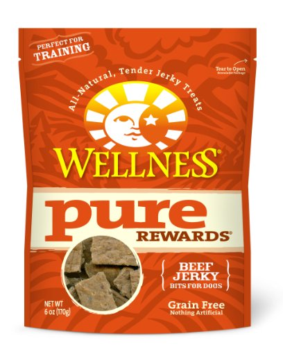 Wellness Grain-Free Treats for Dogs, Pure Rewards Beef, 6-Ounce Pouch
