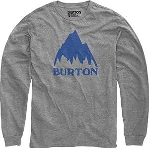 Burton Herren Langarmshirt Mountain Logo Longsleeve, Heather Grey, 48/50 (M), 11214100076