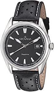 Grovana Men's Classic Analog Black Dial Watch - 1584.1533