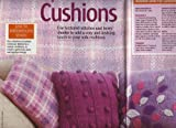 Bobble and rib Cushion Cover, Tartan Cushion Cover, Basket weave Cushion Cover, Leaf Cushion Cover Knitting Pattern: Size 46cm x 45cm: Materials Aran & Chunky: Woman's Weekly Magazine Pull Out Pattern