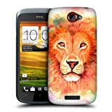 Head Case Designs Lion Watercoloured Animals Protective Snap-on Hard Back Case Cover for HTC One S