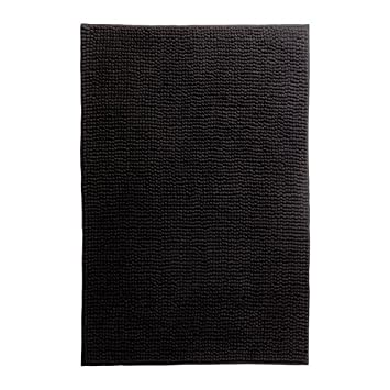 ikea toftbo tapis tapis de bain noir 60x90 cm cuisine maison z191. Black Bedroom Furniture Sets. Home Design Ideas