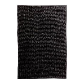 ikea toftbo tapis tapis de bain noir 60x90 cm cuisine maison z191. Black Bedroom Furniture Sets. Home Design Ideas