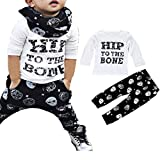Toraway Toddler Newborn Baby Boys Clothing Set T-Shirt Tops + Pants Outfits Clothes (0-9 Month, White)