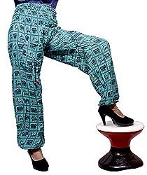 Cotton Elephant Genie Harem Pants Boho Gypsy Trousers Free Size (Turquoise)