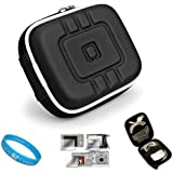 Flip Video Carrying Case for Flip Video Ultra Series Camcorder with Screen Protector Kit (Eva Black) and SumacLife TM Wisdom Courage Wristband