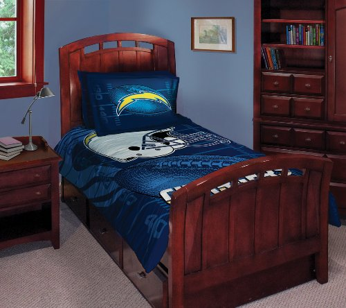 San Diego Chargers Twin/Full Comforter With Two Pillow Shams front-504033