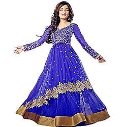 Awesome Fab Women's Georgette Semi-Stitched Dress Material (RIYA_BLUE_Blue_Free Size)