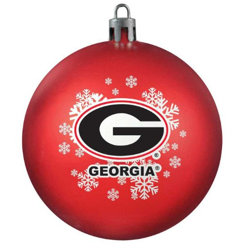 NCAA Georgia Bulldogs Shatterproof Ball Ornament (Bulldog Ball compare prices)