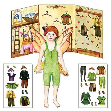 Paper-Doll-Dress-Up-Toy-Kit-Red-Head-Boy-Fairy-Fynn-Press-and-Cling-Clothing-Closet
