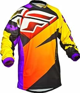 Fly Racing F-16 Youth Boys MotoX Motorcycle Jersey - Purple/Yellow/Black / Medium