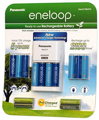 Panasonic Eneloop Kit 10 AA 4 AAA batteries & Charger