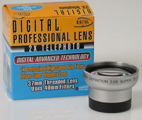 Digital Optics High Quality 2X Telephoto 37Mm Silver Lens