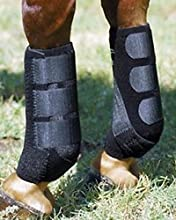 Professional Sports Horse Protective Boots Pair - English Western Barrel Saddle