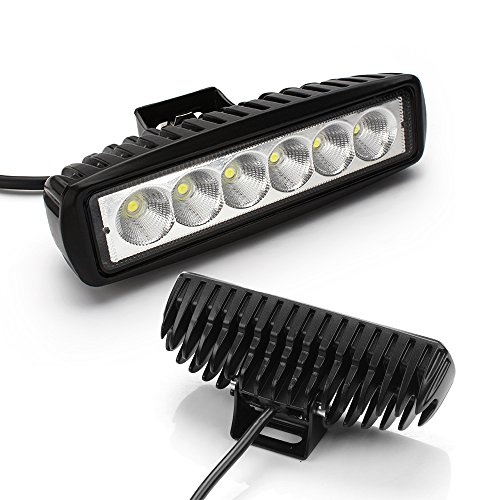 High Power 200w 20 Inch Jeep Accessories Led Light Bar For: Turbo Pair 6 Inch 18W Led Light Bar Flood Beam Led Work