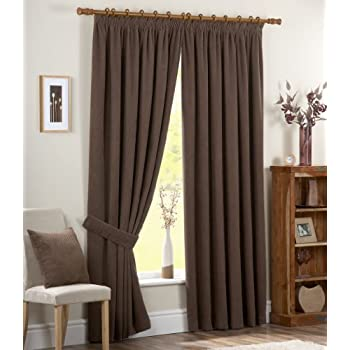pas cher dreams 39 n 39 drapes rideau doublure thermique avec ourlet 8 cm 228 x 274 cm chocolat. Black Bedroom Furniture Sets. Home Design Ideas