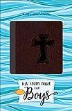 img - for KJV Study Bible for Boys Autumn Bark, Cross Design Duravella book / textbook / text book