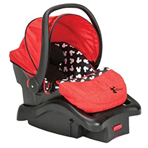 disney baby mickey mouse light n comfy luxe infant car seat mickey silhouette. Black Bedroom Furniture Sets. Home Design Ideas