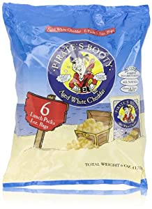 Pirate's Booty Puffs, Aged White Cheddar (6 Count, 1 Oz Each)