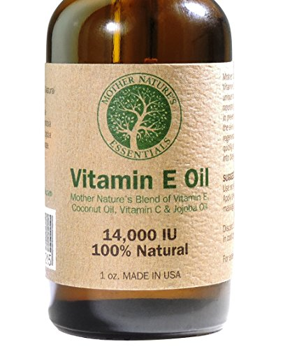 Vitamin E Oil 100% Pure & Natural - Vitamin E Oil 14,000 IU (d-alpha tocopherol) + Jojoba Oil + Vitamin C + Coconut Oil. Unique Formula of Natural Nourishing Oils Known to Assist in Diminishing Fine Lines, Wrinkles, Moisturize the Skin, Diminishing Appear