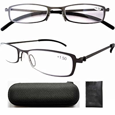 Eyekepper Stainless Steel Frame Reading Glasses Gunmetal