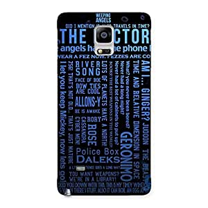 Impressive Blue Doc Angel Back Case Cover for Galaxy Note 4