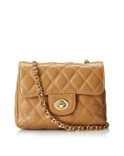 Zenith Women's Dayanna Small Quilted Cross-Body, Sand