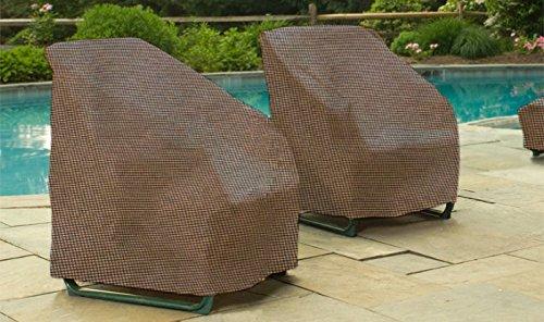 EmpirePatio P1W01PM1 Tan Tweed Wicker Lounge Chair Cover
