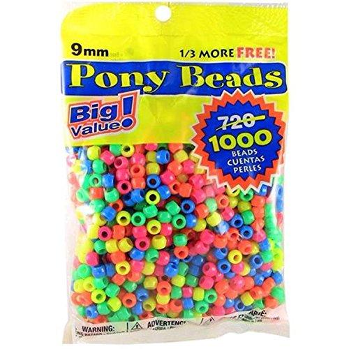 pony-perlina-grande-valore-pack-9-mm-1000-pkg-neon-multicolor