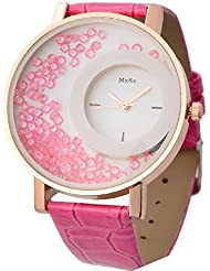Bollywood Designer Stylish Free Diamond Dial Fancy Leather Watch For Girls And Women (Pink)