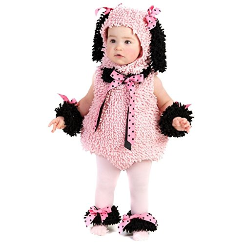 [GSG Puppy Baby Costume Girls Pink Poodle Dog Infant/Toddler Halloween Dress Up] (Gladiator Dog Costumes)