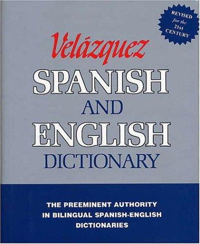 Velazquez Spanish and English Dictionary (Spanish Edition)