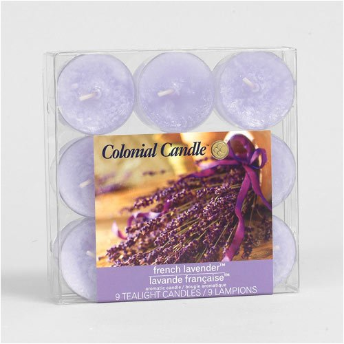 Colonial Candle French Lavender Scented Tealight Candles