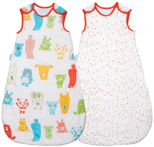 Fantastic Deal! Grobag Wash & Wear Twin Pack Spotty Bear 2.5 Tog (18-36 Months)
