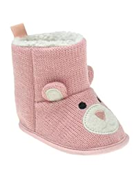 Capelli New York Knitted bear boot with faux berber lining Infant girls boot