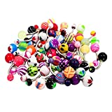 Contever 50pcs   Set Belly Mode Boule Assorted Navel Barbell Bars Anneaux Body Piercing