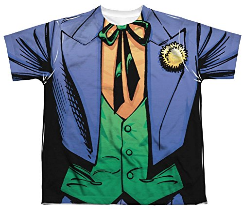 The Joker Costume All Over Youth Front T-Shirt