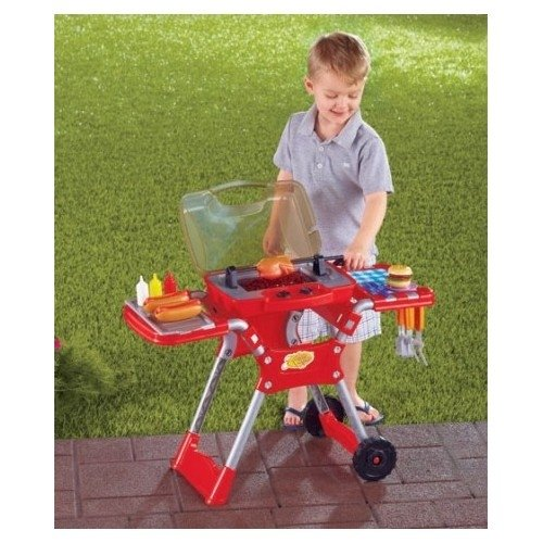 Barbecue BBQ Playset Play Pretend Grill Set With 32 Pieces
