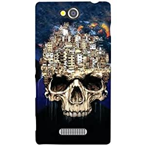 Sony Xperia C - Skull Matte Finish Phone Cover