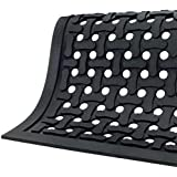 "Andersen Comfort Flow Nitrile Rubber Anti-Fatigue Indoor Floor Mat, 3/8"" Thick, Black"